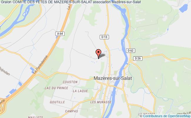 plan association Comite Des Fetes De Mazeres-sur-salat Mazères-sur-Salat
