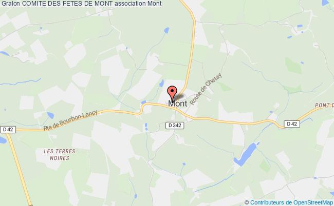 plan association Comite Des Fetes De Mont