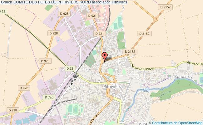 plan association Comite Des Fetes De Pithiviers Nord