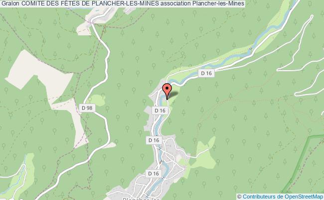 plan association Comite Des FÊtes De Plancher-les-mines Plancher-les-Mines