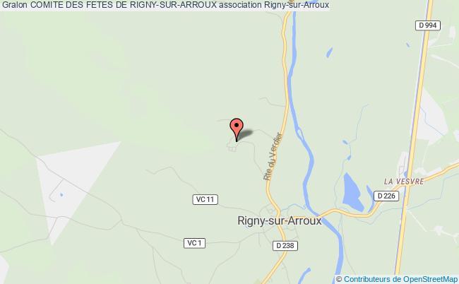 plan association Comite Des Fetes De Rigny-sur-arroux