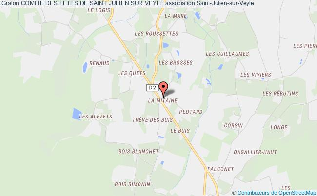 plan association Comite Des Fetes De Saint Julien Sur Veyle