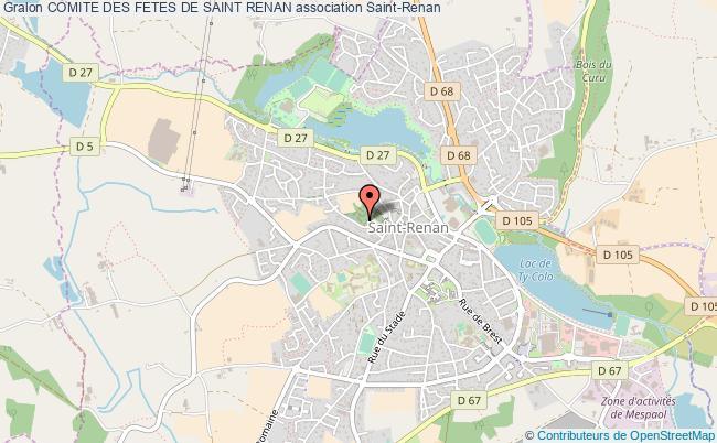 plan association Comite Des Fetes De Saint Renan