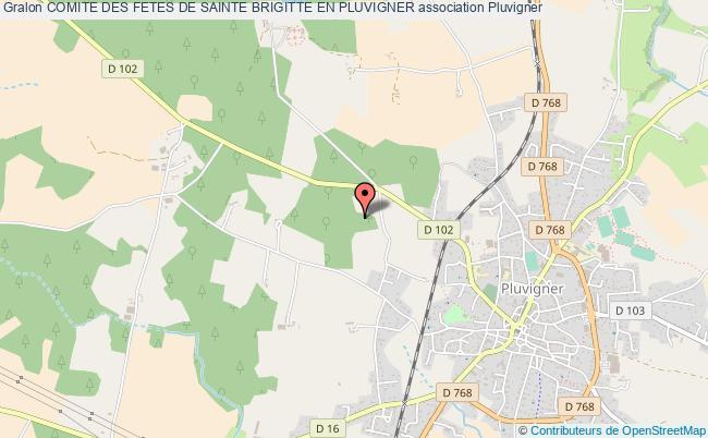 plan association Comite Des Fetes De Sainte Brigitte En Pluvigner Pluvigner