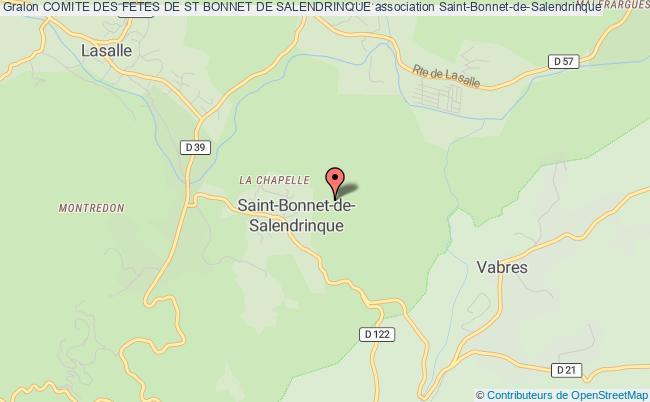 plan association Comite Des Fetes De St Bonnet De Salendrinque