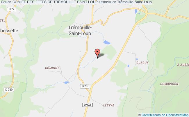 plan association Comite Des Fetes De Tremouille Saint Loup