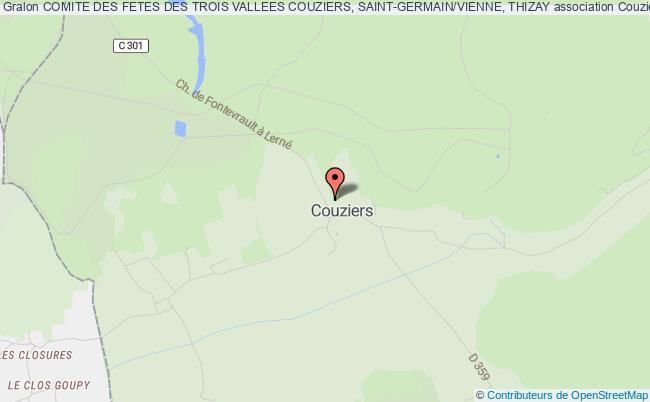 plan association Comite Des Fetes Des Trois Vallees Couziers, Saint-germain/vienne, Thizay