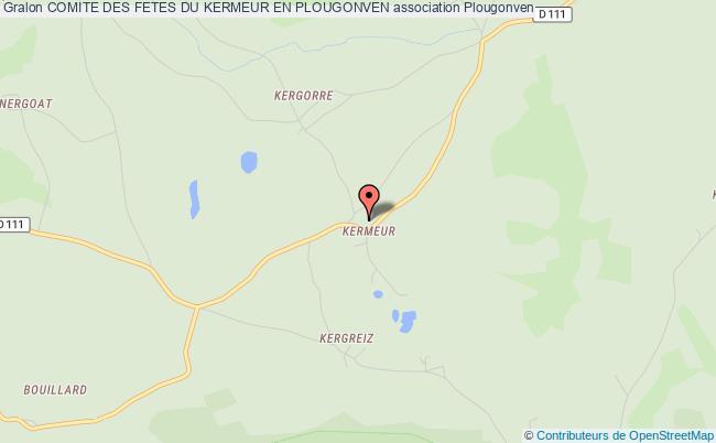 plan association Comite Des Fetes Du Kermeur En Plougonven