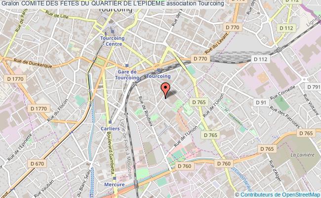 plan association Comite Des Fetes Du Quartier De L'epideme Tourcoing Cedex