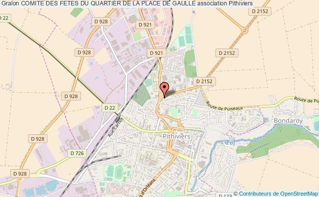 plan association Comite Des Fetes Du Quartier De La Place De Gaulle