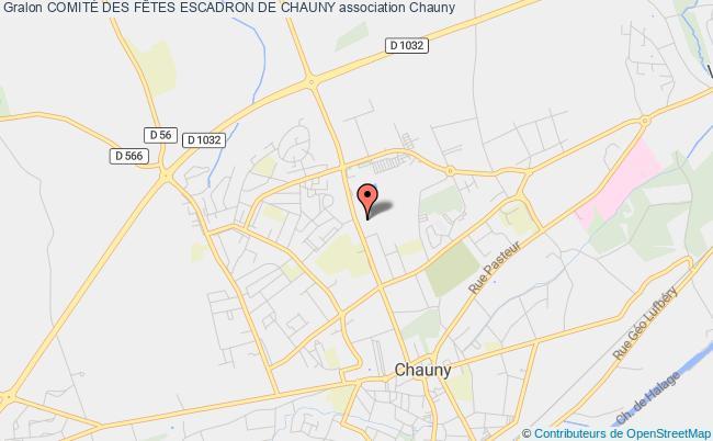 plan association ComitÉ Des FÊtes Escadron De Chauny Chauny
