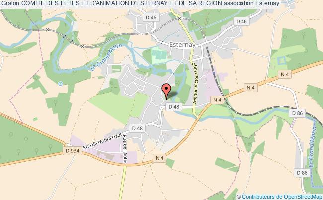 Esternay  Plan De La Ville