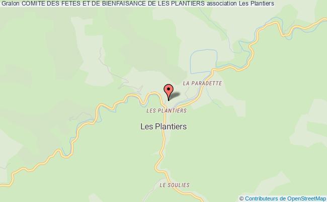 plan association Comite Des Fetes Et De Bienfaisance De Les Plantiers Les Plantiers