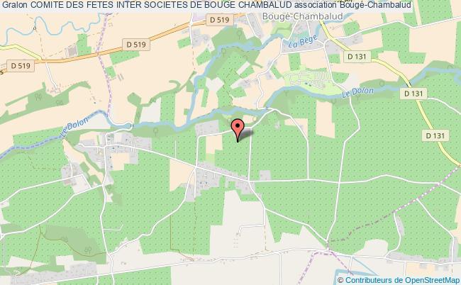plan association Comite Des Fetes Inter Societes De Bouge Chambalud Bougé-Chambalud