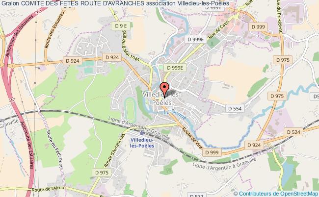 plan association Comite Des Fetes Route D'avranches Villedieu-les-Poêles