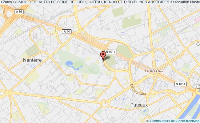 plan association Comite Des Hauts De Seine De Judo,jujitsu, Kendo Et Disciplines Associees Paris