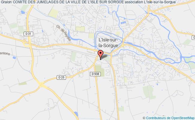 plan association Comite Des Jumelages De La Ville De L'isle Sur Sorgue