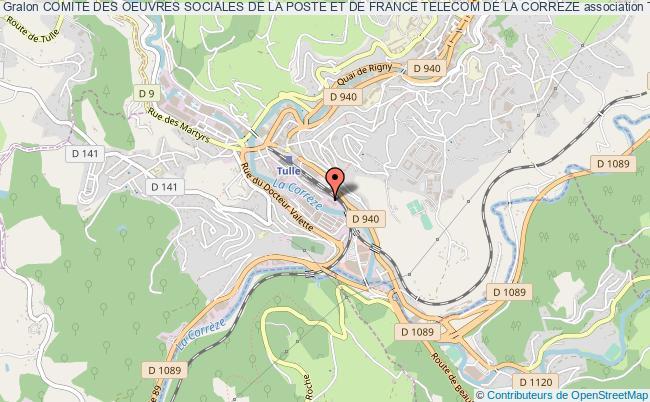 plan association Comite Des Oeuvres Sociales De La Poste Et De France Telecom De La Correze