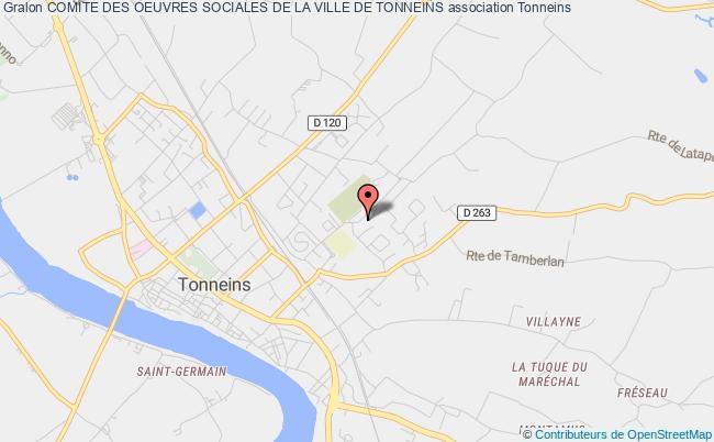 plan association Comite Des Oeuvres Sociales De La Ville De Tonneins Tonneins