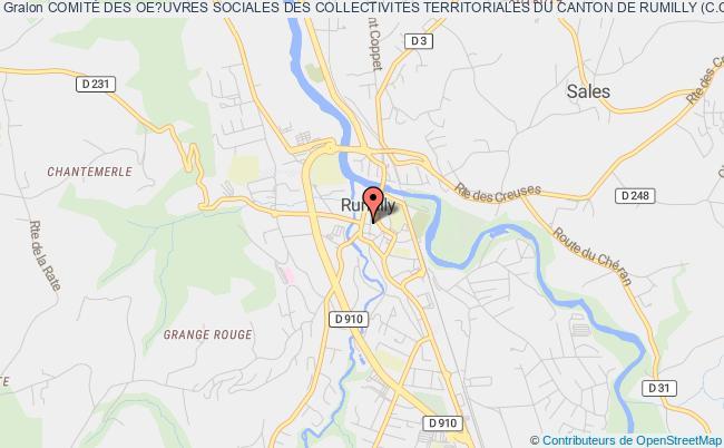 plan association ComitÉ Des Oe?uvres Sociales Des Collectivites Territoriales Du Canton De Rumilly (c.o.s) Rumilly