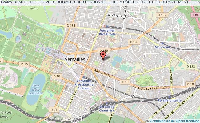 plan association Comite Des Oeuvres Sociales Des Personnels De La Prefecture Et Du Departement Des Yvelines (cosppdy)
