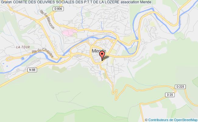 plan association Comite Des Oeuvres Sociales Des P.t.t De La Lozere