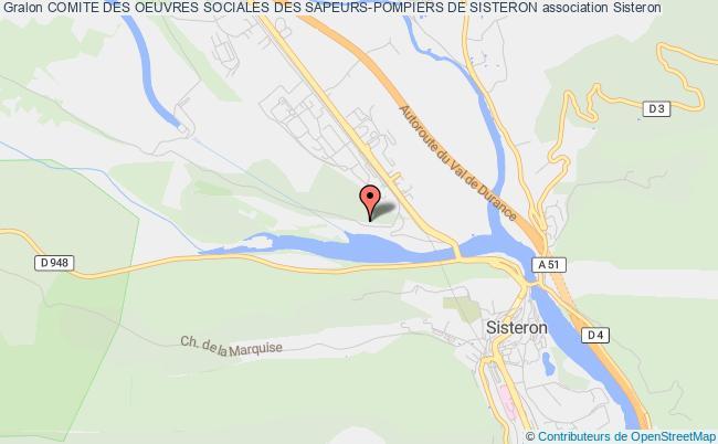 plan association Comite Des Oeuvres Sociales Des Sapeurs-pompiers De Sisteron