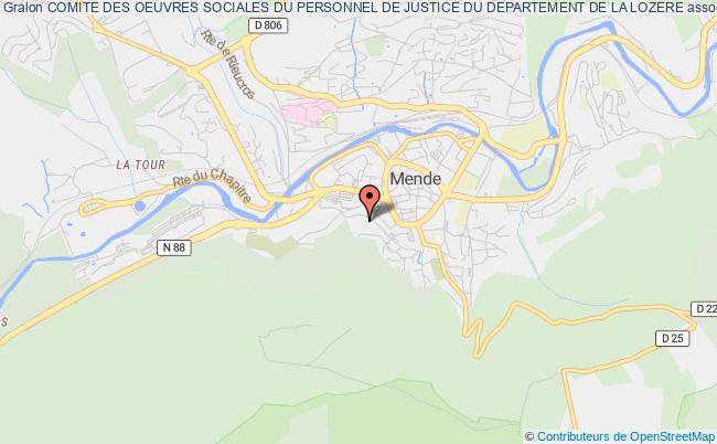 plan association Comite Des Oeuvres Sociales Du Personnel De Justice Du Departement De La Lozere
