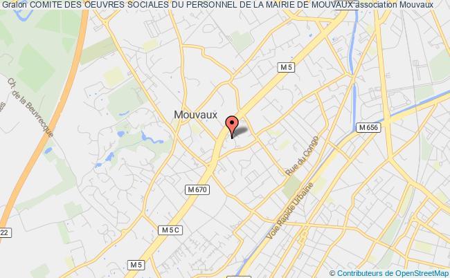plan association Comite Des Oeuvres Sociales Du Personnel De La Mairie De Mouvaux