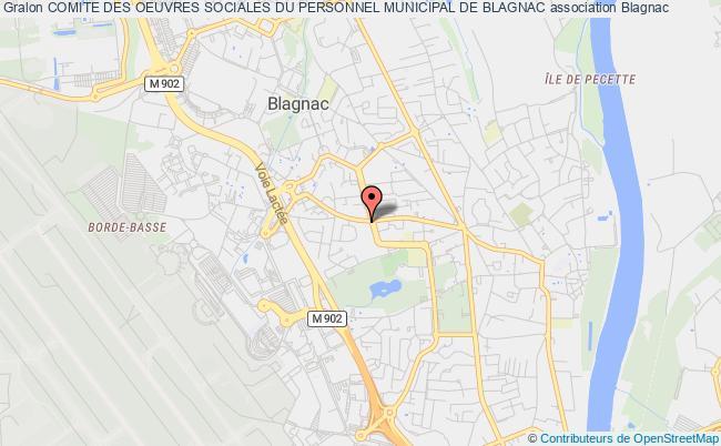 plan association Comite Des Oeuvres Sociales Du Personnel Municipal De Blagnac