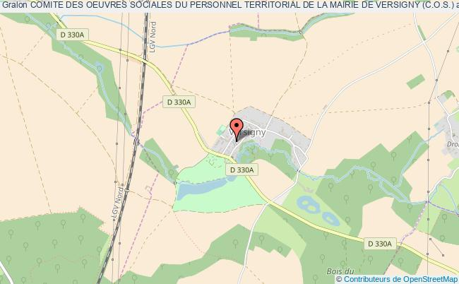 plan association Comite Des Oeuvres Sociales Du Personnel Territorial De La Mairie De Versigny (c.o.s.) Versigny