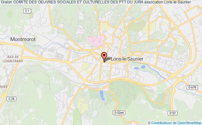 plan association Comite Des Oeuvres Sociales Et Culturelles Des Ptt Du Jura