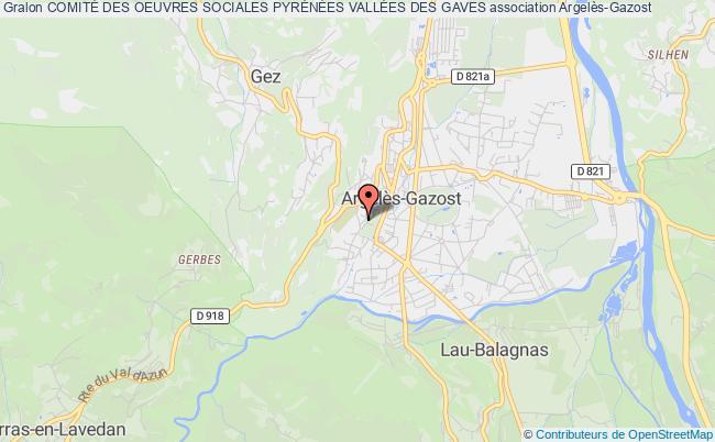 plan association ComitÉ Des Oeuvres Sociales PyrÉnÉes VallÉes Des Gaves Argelès-Gazost