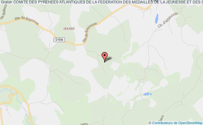 plan association Comite Des Pyrenees Atlantiques De La Federation Des Medailles De La Jeunesse Et Des Sports