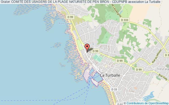 plan association ComitÉ Des Usagers De La Plage Naturiste De Pen Bron - Cdupnpb