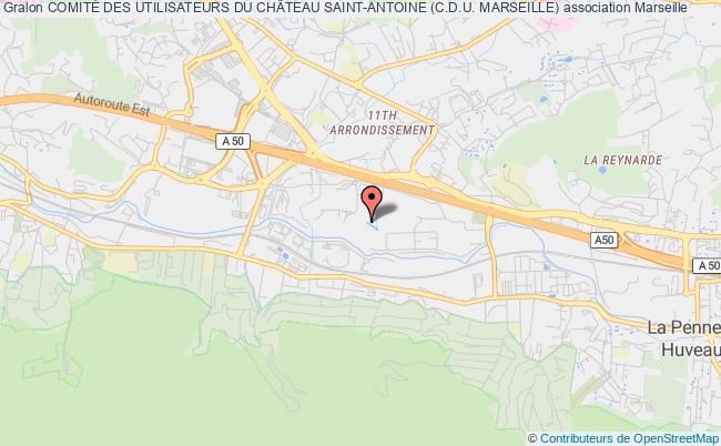 plan association ComitÉ Des Utilisateurs Du ChÂteau Saint-antoine (c.d.u. Marseille)