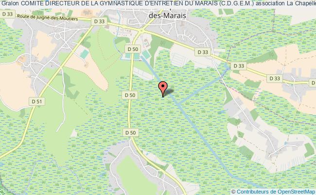 plan association Comite Directeur De La Gymnastique D'entretien Du Marais (c.d.g.e.m.) La    Chapelle-des-Marais