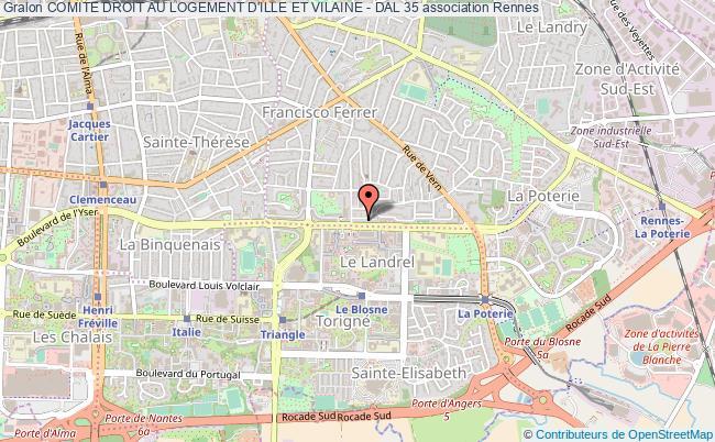 plan association Comite Droit Au Logement D'ille Et Vilaine - Dal 35 Rennes