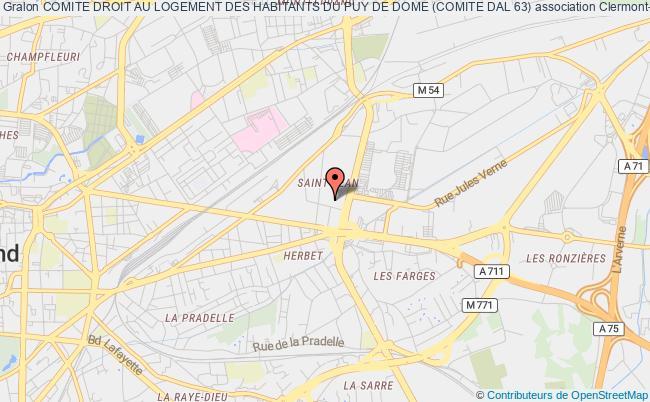 plan association Comite Droit Au Logement Des Habitants Du Puy De Dome (comite Dal 63)