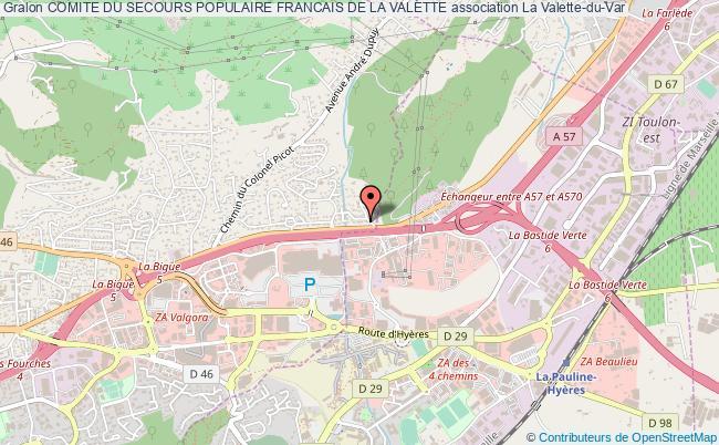 plan association Comite Du Secours Populaire Francais De La Valette La    Valette-du-Var