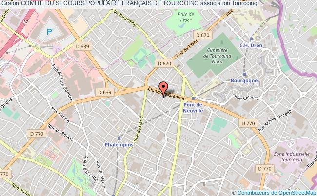 plan association Comite Du Secours Populaire FranÇais De Tourcoing Tourcoing