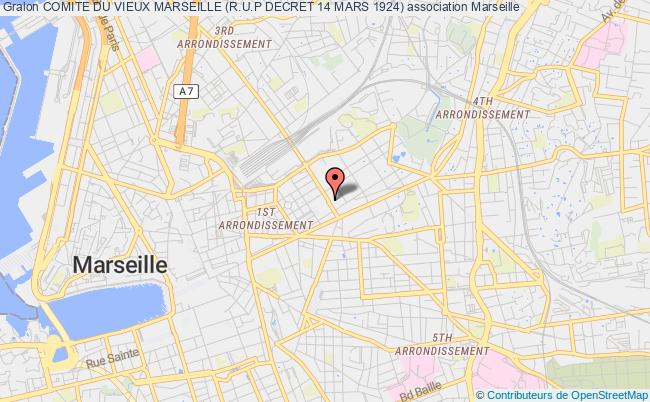 plan association Comite Du Vieux Marseille (r.u.p Decret 14 Mars 1924)