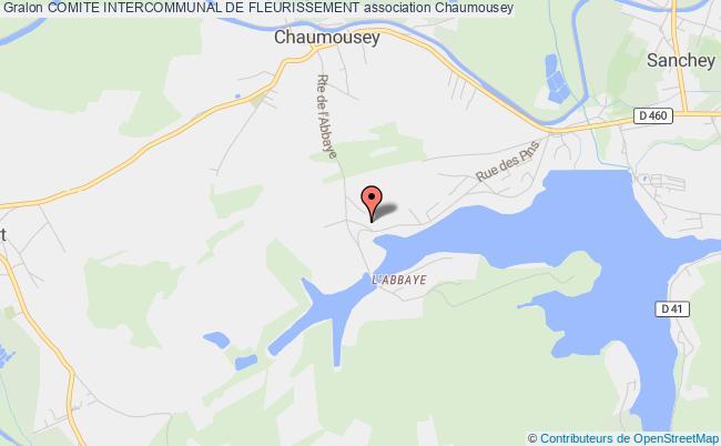 plan association Comite Intercommunal De Fleurissement Chaumousey