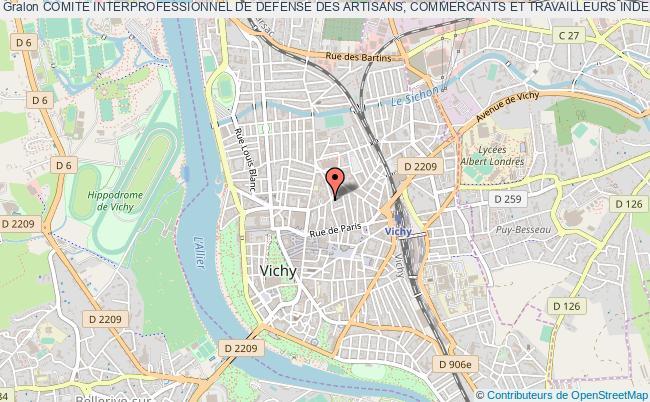 plan association Comite Interprofessionnel De Defense Des Artisans, Commercants Et Travailleurs Independants
