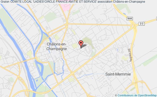 plan association Comite Local 'ladies'circle France Amitie Et Service'