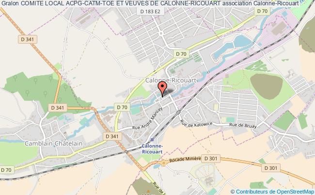 plan association Comite Local Acpg-catm-toe Et Veuves De Calonne-ricouart
