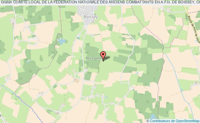 plan association Comite Local De La Federation Nationale Des Anciens Combattants En A.f.n. De Boissey, Chevroux, Saint-etienne-sur-reyssouze Boissey