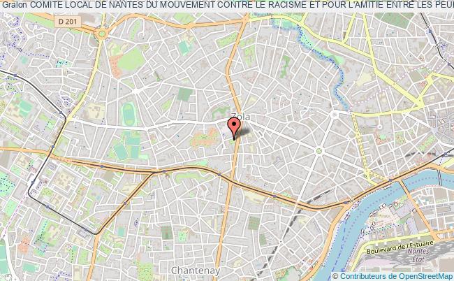 plan association Comite Local De Nantes Du Mouvement Contre Le Racisme Et Pour L'amitie Entre Les Peuples ( Mrap )
