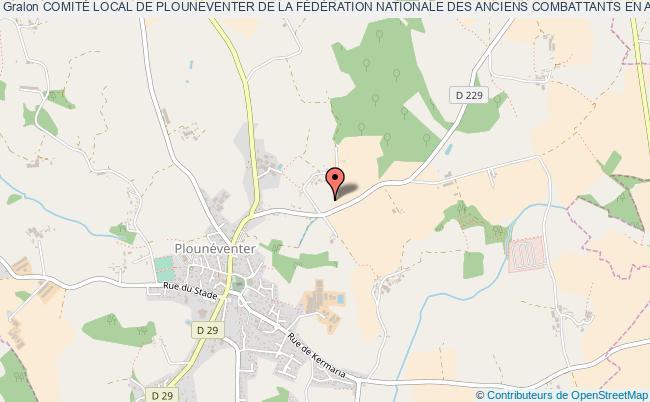 plan association ComitÉ Local De Plouneventer De La FÉdÉration Nationale Des Anciens Combattants En AlgÉrie (f.n.a.c.a.)