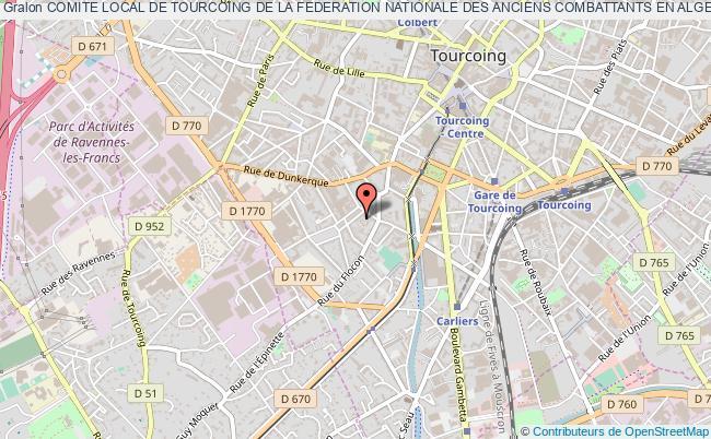 plan association Comite Local De Tourcoing De La Federation Nationale Des Anciens Combattants En Algerie Maroc Et Tunisie (f.n.a.c.a)